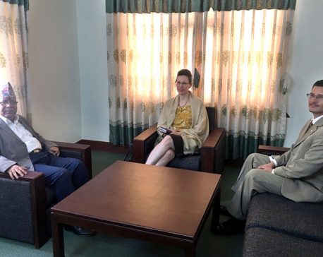 US ambassador Teplitz calls on leader Nepal