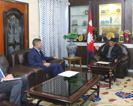 US ambassador to Nepal meets NCP's rival faction chair Dahal to share priorities set by the Biden administration