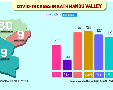 COVID-19 tally surpasses 1,200 in Kathmandu in two weeks, 98 in last 24 hours