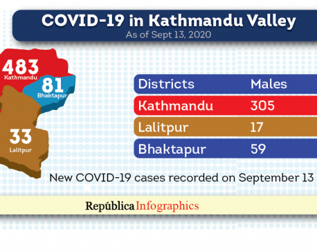Kathmandu Valley's COVID-19 tally reached 11,736 with 597 new cases in the past 24 hours