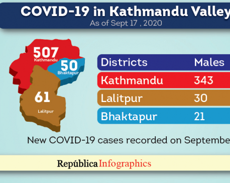 Kathmandu Valley's COVID-19 caseload surpasses 14,000-mark as death toll hits 91