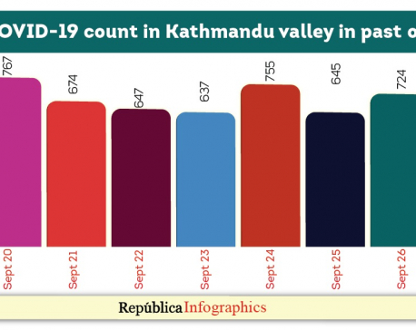 Kathmandu Valley's COVID-19 caseload goes past 20,000 with  724 new cases on Saturday