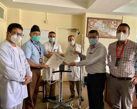 Nepal Ventilator Bank is providing ventilator machines in the midst of the pandemic