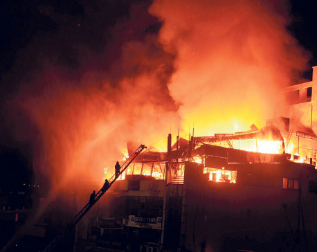 Property worth Rs 9.8 million gutted in fire