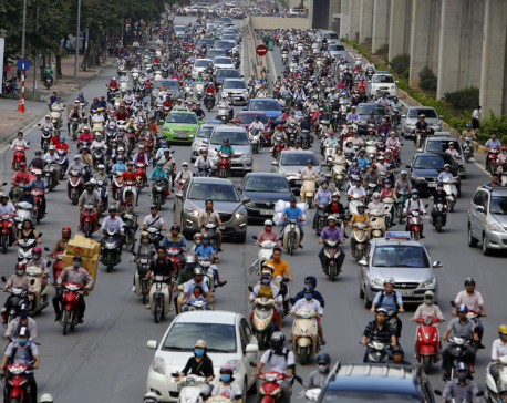 Vietnam's capital to ban motorbikes in metro areas by 2030