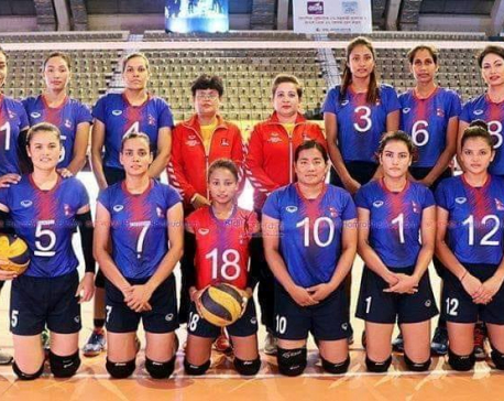 Nepali team secures historic win in volleyball championship