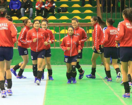 13th SAG begins with Nepal-B'desh Women's volleyball match