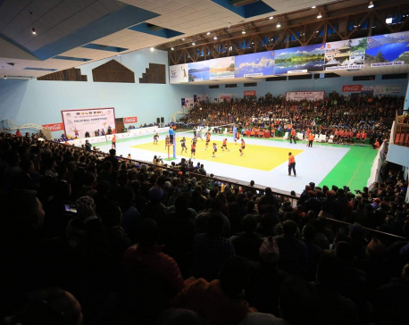 Nepal women win silver in volleyball
