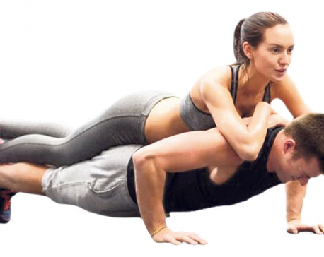 Working out with a partner
