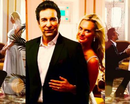 Wasim Akram, wife Shaniera star in Salman Ahmad's music video
