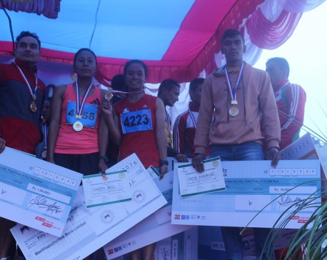 Victory Marathon organized at Butwal; Rimal and Koju clinch title (with photos)