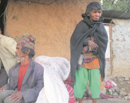 Poor families in Rolpa struggling to spend winter