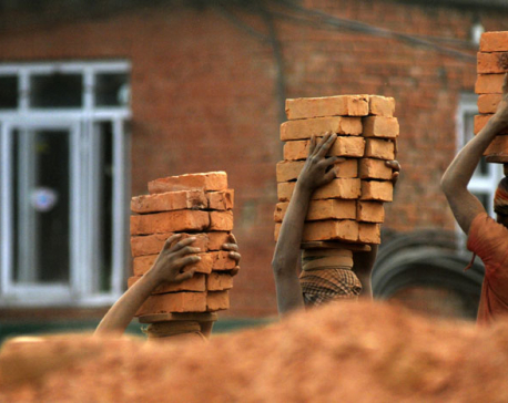 Pits dug for making bricks in Bhaktapur risking lives of children