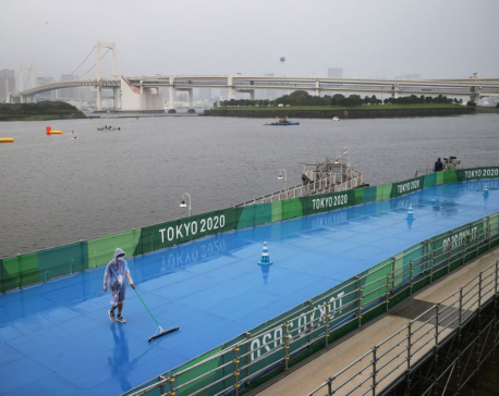 Storm buffets venues but Tokyo Games go on