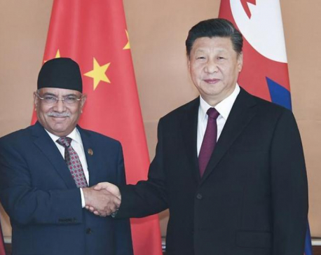 Xi's visit laid foundation to materialize idea of trilateral partnership between China, Nepal and India, says Dahal