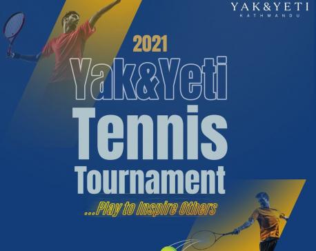 Yak and Yeti organizes its first tennis tournament