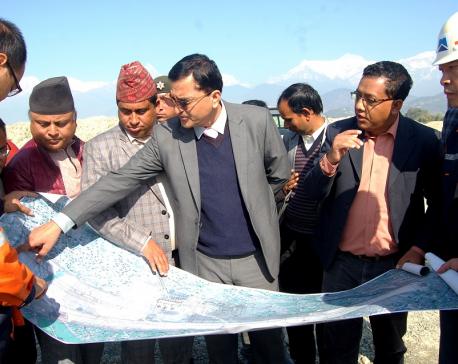 Minister Bhattarai inspects Pokhara airport