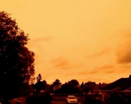 Australia's bushfires turn neighbouring New Zealand's skies bright orange