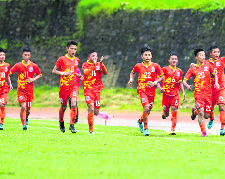 Nepal's semifinal hopes slim after 3-0 loss to Bhutan
