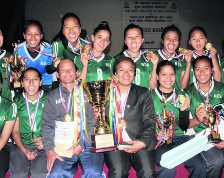 New Diamond lifts APF volleyball trophy