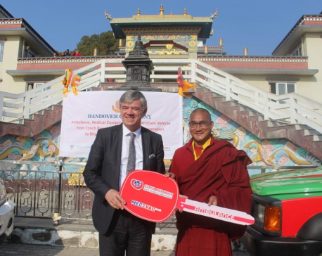 Czech Republic hands over medical equipment, ambulance to Nala monastery (with photos)