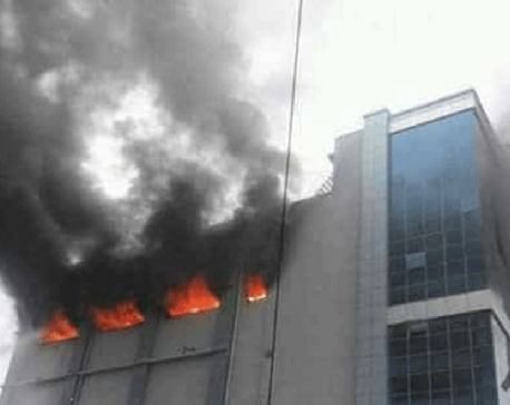 Fire in Bhatbhateni put out after four hours