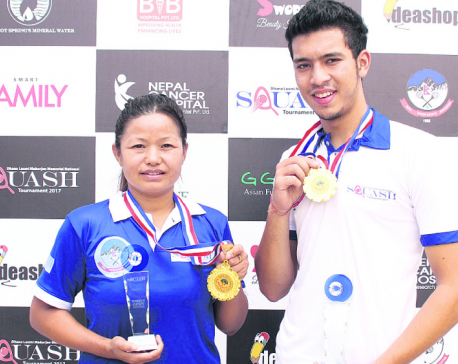 Aarhant, Bhawana defend squash titles