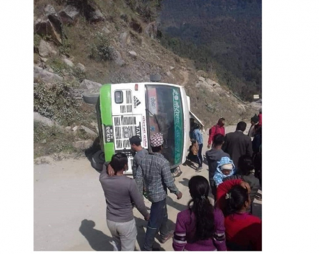 Septuagenarian dies in Dolakha road accident