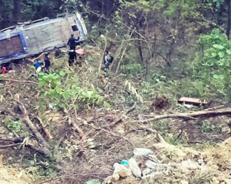 Four dead, 48 injured in bus accident in Nawalparasi