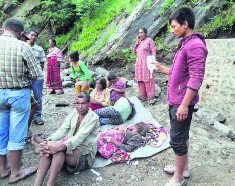 Flood, landslide in Ramechhap kills 2, four still missing