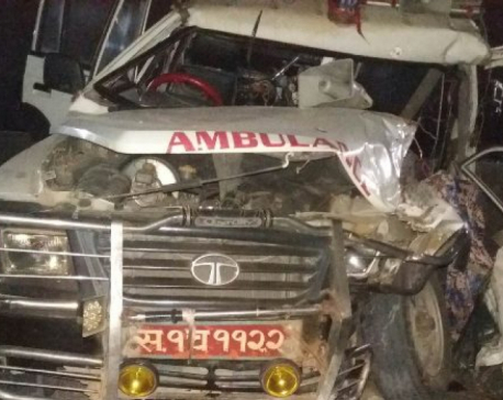 Patient dies, three others injured as ambulance rams into parked lorry in Morang