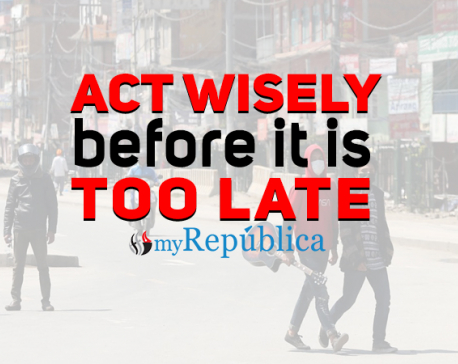 COVID 19: Let's act wisely