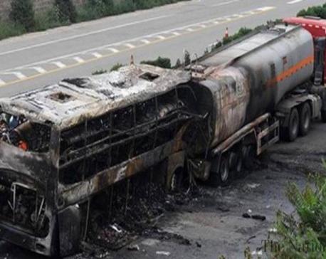 36 dead in bus-tanker collision in Afghanistan