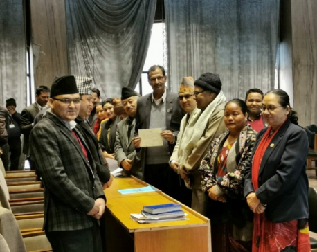 Sapkota registers his candidacy for the speaker post