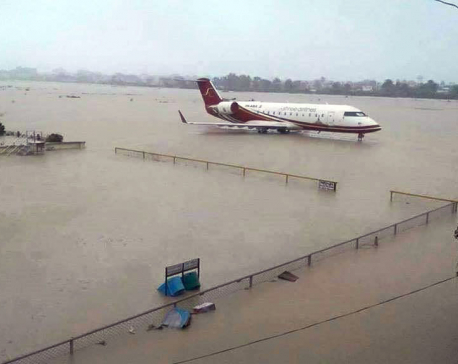Heavy rainfall disrupts domestic flights, Biratnagar airport submerged