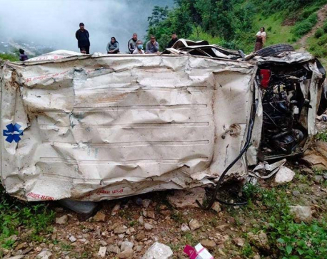 One dies in ambulance accident in Rolpa