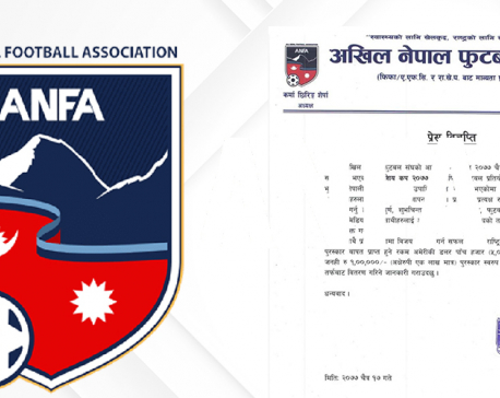 Nepali national football players to receive Rs 100,000 each following victory in Three Nations Cup