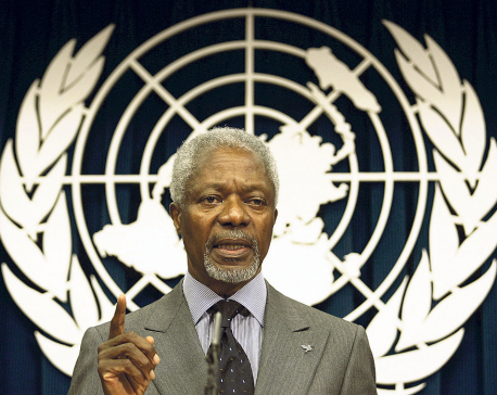 Annan's initiative for peace process in Nepal remembered