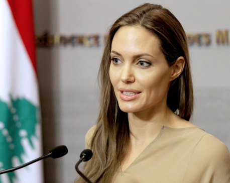 Angelina Jolie makes first public appearance since split from Brad Pitt