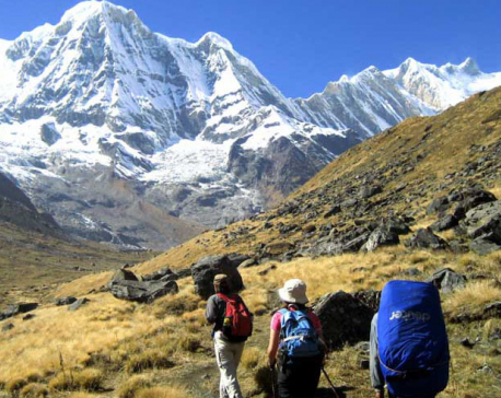 Trekkers trickling back to Annapurna Base Camp