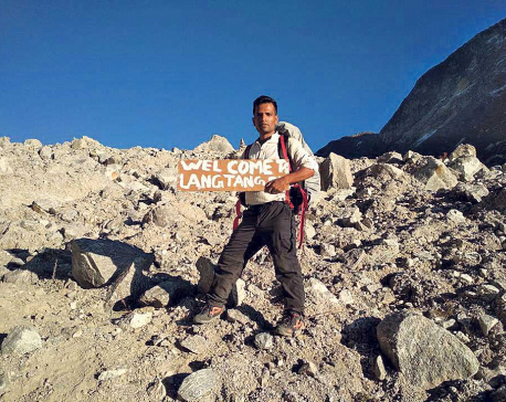 Journalist Silwal honored for Langtang promotion
