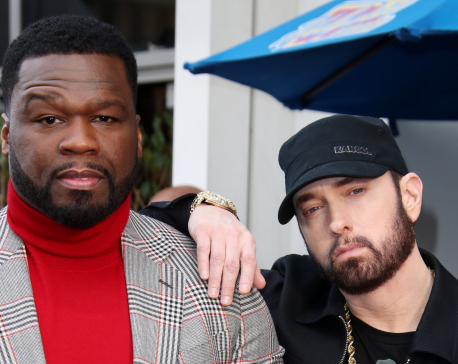 50 Cent inducted into Hollywood Walk of fame, Eminem honors the rapper