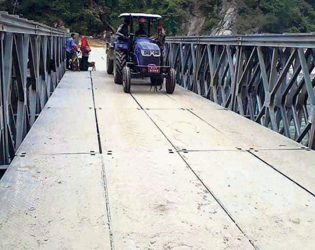 Bailey bridge connects Khotang to eastern tarai