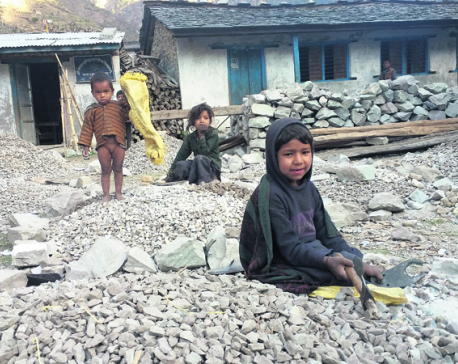 Dalit children crush stones to buy books