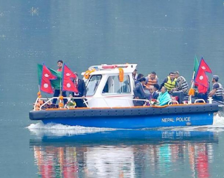 Bangladesh President takes boat ride on Fewa Lake in Pokhara (with photos)