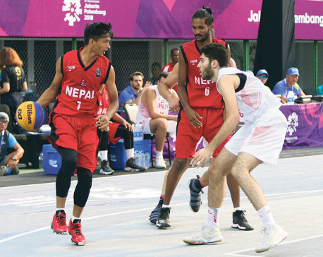 Nepal beats Syria in men's basketball at Asian Games