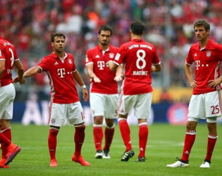 Bayern drop first points, Dortmund lose at Leverkusen