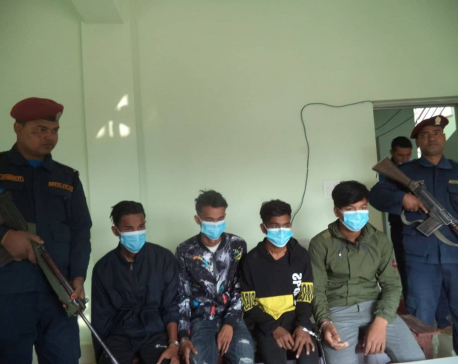 Four young men held with brown sugar in Siraha