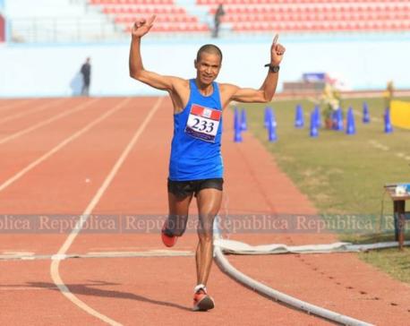 Nepal's athlete Bogati bags gold in marathon