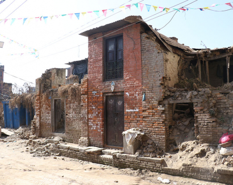 Only 23 quake-damaged houses rebuilt in Bhaktapur